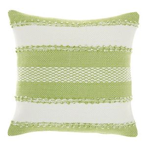 Mina Victory Woven Stripes & Dots Indoor Outdoor Throw Pillow