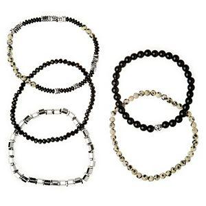 Sonoma Goods For Life® Black & Multi Beaded Stretch Bracelet Set