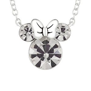 Disney's Minnie Mouse Crystal Silhouette & Heart Dual Strand Necklace