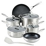 Circulon SteelShield S-Series 10-pc. Stainless Steel Nonstick Cookware Set with Utensil