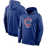 Men's Nike Royal Chicago Cubs Logo Therma Performance Pullover Hoodie