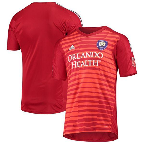 Men's adidas Red Orlando City SC Goalkeeper Jersey