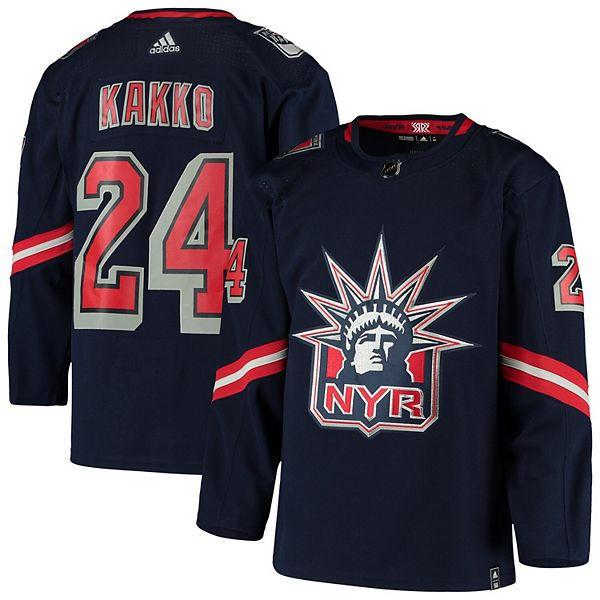 Men's adidas Kaapo Kakko Navy New York Rangers 2020/21 Reverse Retro Authentic Player Jersey