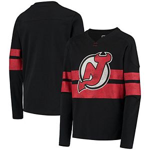 Youth Black New Jersey Devils Classic Pullover Sweatshirt