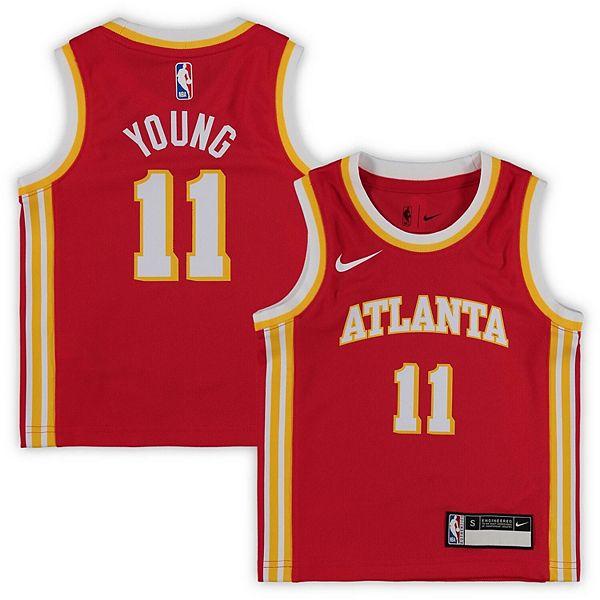 Preschool Nike Trae Young Red Atlanta Hawks 2020/21 Jersey - Icon Edition
