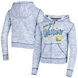 Youth 5th & Ocean by New Era Royal Golden State Warriors Space Dye Full-Zip Hoodie