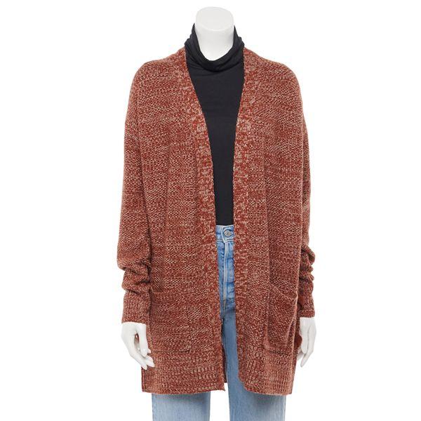 Juniors' SO® Long Sleeve Side Grommet Cardigan ... Sweater