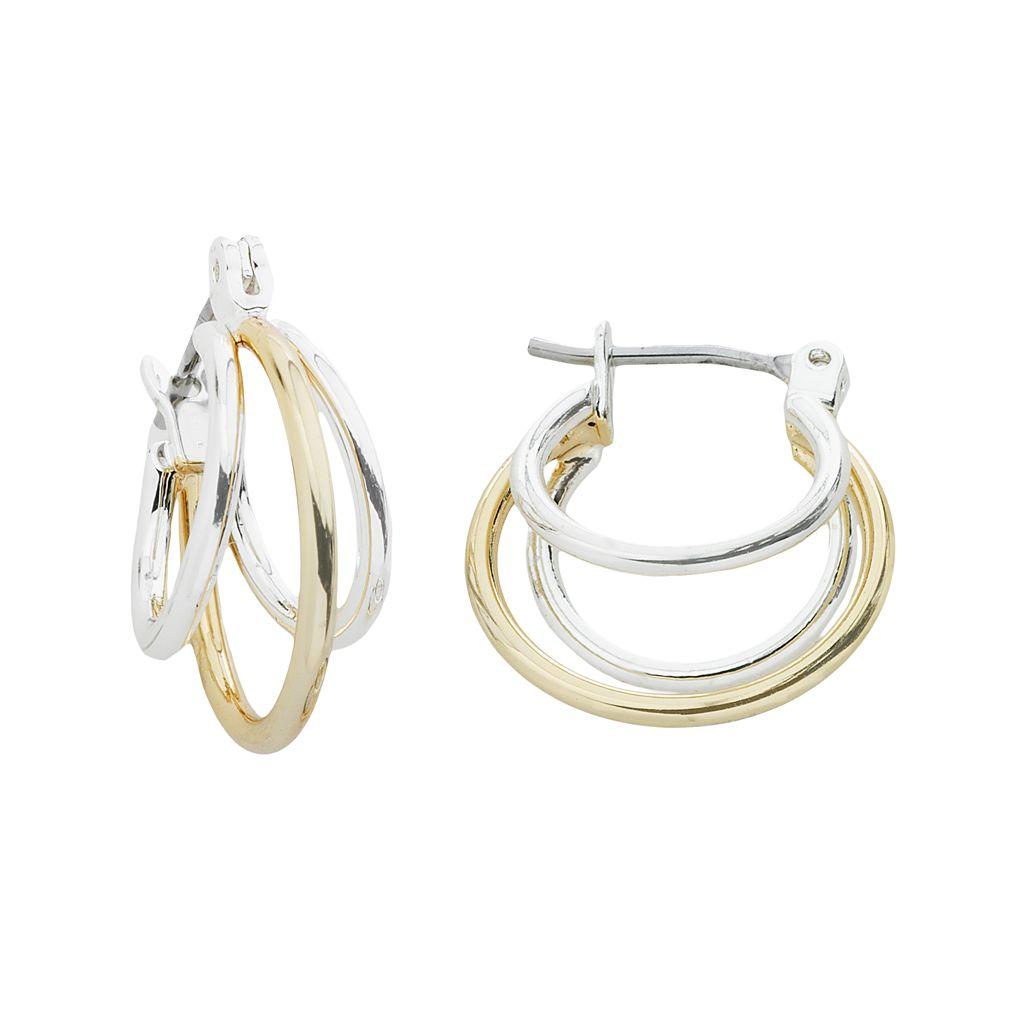 Napier® Two Tone Hoop Earrings