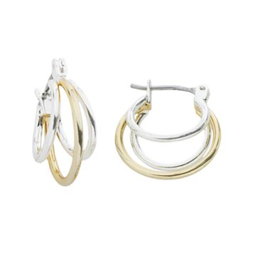 Napier® Two Tone Hoop Earrings