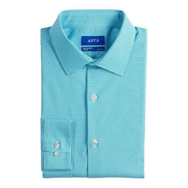 Big & Tall Apt. 9® Premier Flex Slim-Fit ... Spread-Collar Dress Shirt
