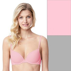 SO® 2-Pack Lightly Lined Convertible T-Shirt Bra