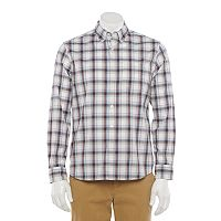 Deals on Sonoma Goods for Life Mens Poplin Button-Down Shirt