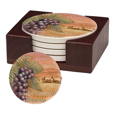 Thirstystone Wine Coaster Set