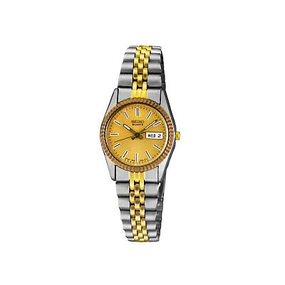 Seiko Stainless Steel Two Tone Watch - Women