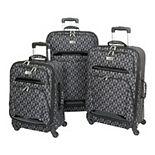 Geoffrey Beene Hearts Fashion 3-Piece Softside Spinner Luggage Set