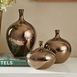 Madison Park Signature Ansen Metallic Decorative Vase 3-piece Set