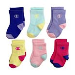Baby / Toddler Girl Champion® 6 Pack Logo Crew Socks