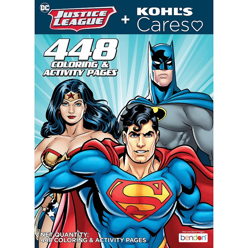 Kohl's Cares DC Justice League Coloring and Activity Book, Multicolor Create awesome superhero-inspired art with this activity book from Kohl's Cares and DC Comics. Create awesome superhero-inspired art with this activity book from Kohl's Cares and DC Comics. KOHL'S CARES 10.75  H x 7.75  W 448 pages Published by Bendon Publishing Published in 2021 Soft book Made in the USA Model no. 1690216085 Size: One Size. Color: Multicolor. Gender: unisex. Age Group: adult.