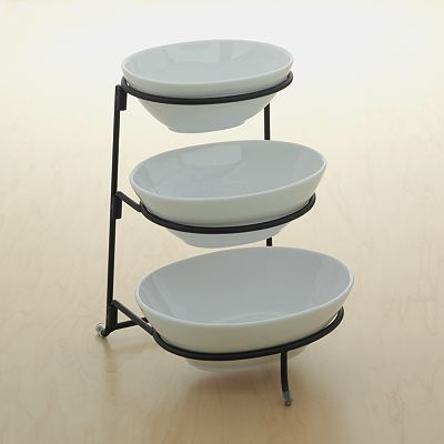 Food Network 3-Tier Serving Bowl Server