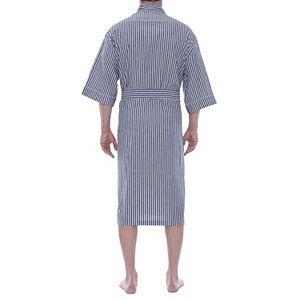 Men's Residence Sunbuster Seersucker Kimono Robe