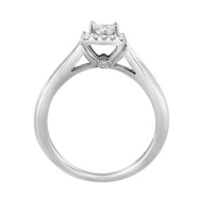 14k White Gold 3/4 Carat T.W. IGI Certified Diamond Engagement Ring