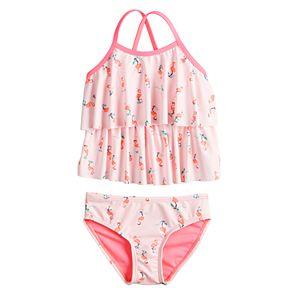 Toddler Girl Jumping Beans® Tiered Tankini Top & Swim Bottoms Set