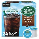 Green Mountain Coffee Roasters Classic Black Brew Over Ice Coffee, Keurig® K-Cup® Pods, Medium Roast, 24 Count