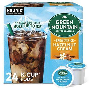 Green Mountain Coffee Roasters Hazelnut Cream Brew Over Ice Coffee, Keurig® K-Cup® Pods, Medium Roast, 24 Count