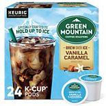 Green Mountain Coffee Roasters Brew Over Ice Vanilla Caramel Coffee, Keurig® K-Cup® Pods, Medium Roast, 24 Count