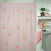 Park B. Smith Floral Striped Fabric Shower Curtain