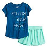 Girls 4-12 Jumping Beans® Active Tee & Mesh Shorts Set