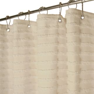 Park B. Smith Retro Striped Fabric Shower Curtain