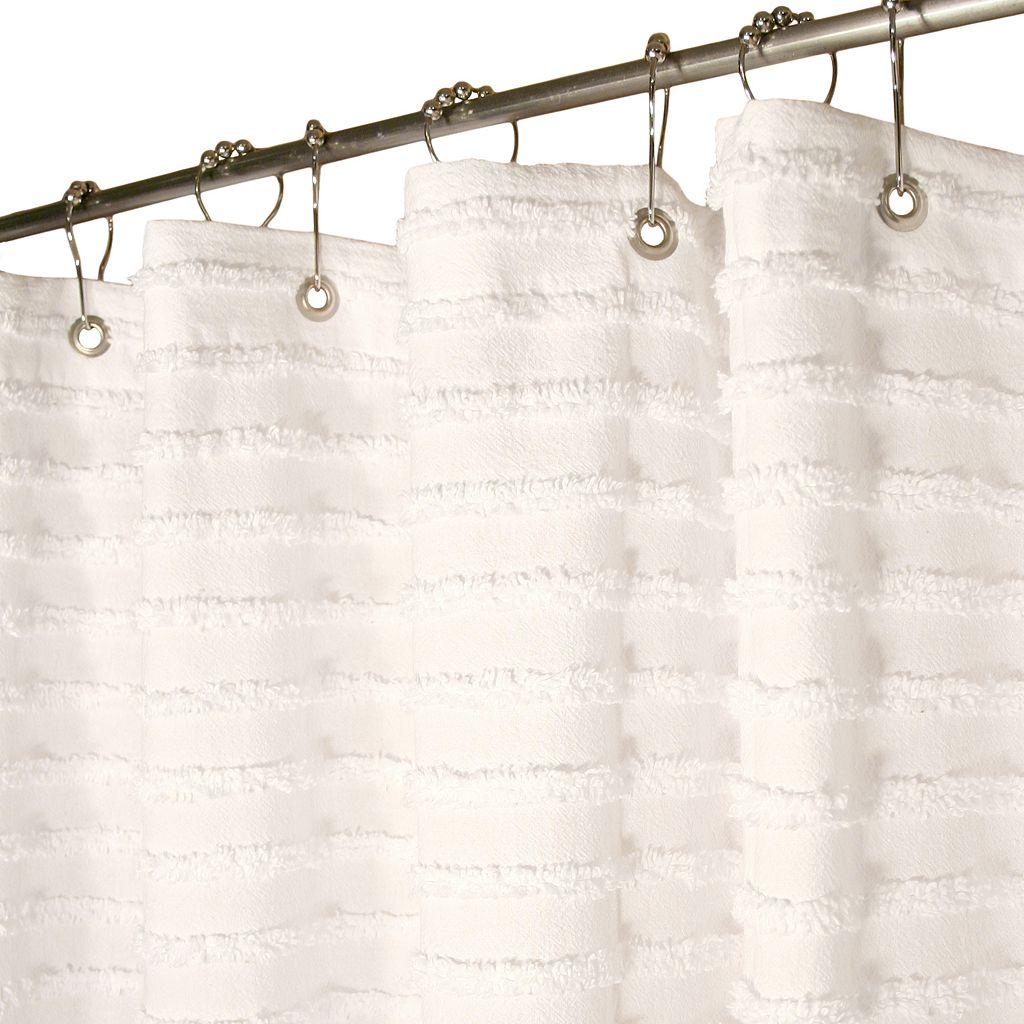 Park B. Smith® Retro Striped Fabric Shower Curtain
