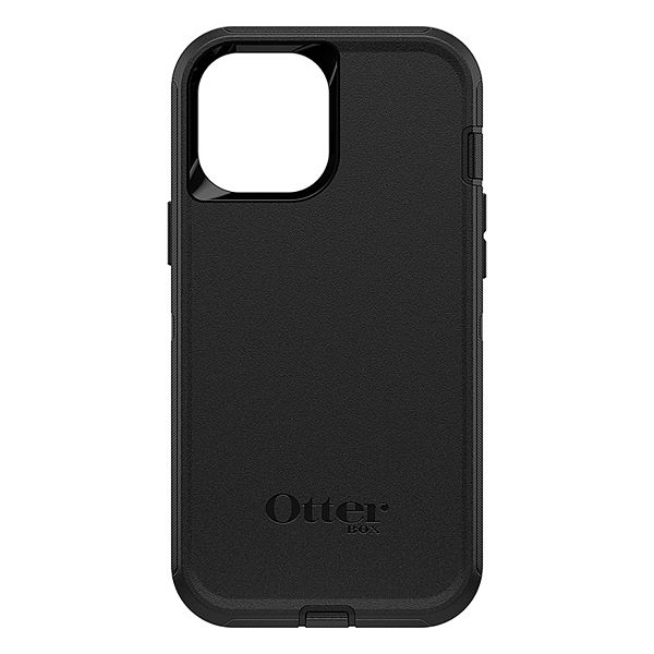 OtterBox Defender Series - Back cover for cell phone - rugged - polycarbonate, synthetic rubber - black - for Apple iPhone 12 Pro Max