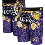 Men's Ethika Los Angeles Lakers Fashion Bling Boxer Briefs