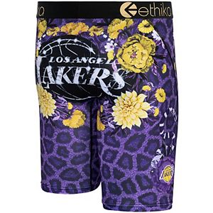 Men's Ethika Los Angeles Lakers Fashion Bling Boxer Briefs