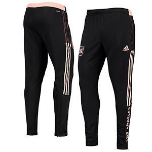 Men's adidas Black LAFC 2021 Travel AEROREADY Pants