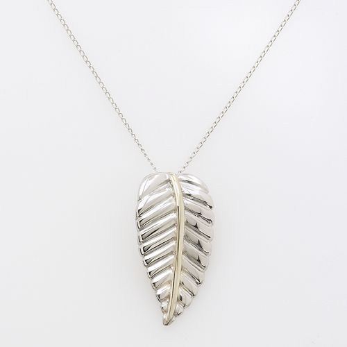 Jewelry for 14k Gold & Sterling Silver Leaf Pendant