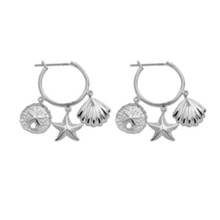 Jewelry for Trees Platinum Over Silver Starfish Drop Earrings - Kids