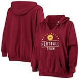 Women's Fanatics Branded Burgundy Washington Football Team Plus Size V-Neck Pullover Hoodie