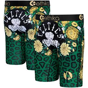 Youth Ethika Boston Celtics Fashion Bling Collection Boxer Briefs