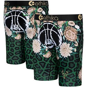 Youth Ethika Milwaukee Bucks Fashion Bling Collection Boxer Briefs