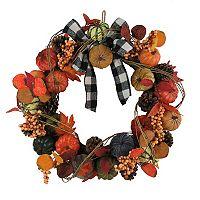 Celebrate Fall Together Artificial Pumpkins Wreath Deals