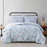 Cottage Classics Charlotte Floral 3-piece Duvet Cover Set with Shams