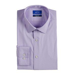 Men's Apt. 9® Premier Flex Slim-Fit Spread-Collar Dress Shirt