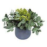 Scott Living Artifical Greenery Blue Pot Arrangement