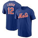 Men's Nike Francisco Lindor Royal New York Mets Name & Number T-Shirt