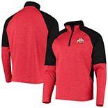 Men's Scarlet Ohio State Buckeyes Reborn Quarter-Zip Jacket