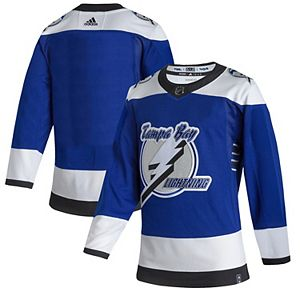 Men's adidas Blue Tampa Bay Lightning 2020/21 Reverse Retro Authentic Jersey