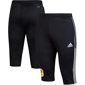 Men's adidas Black Nashville SC Tiro 3/4 Pants
